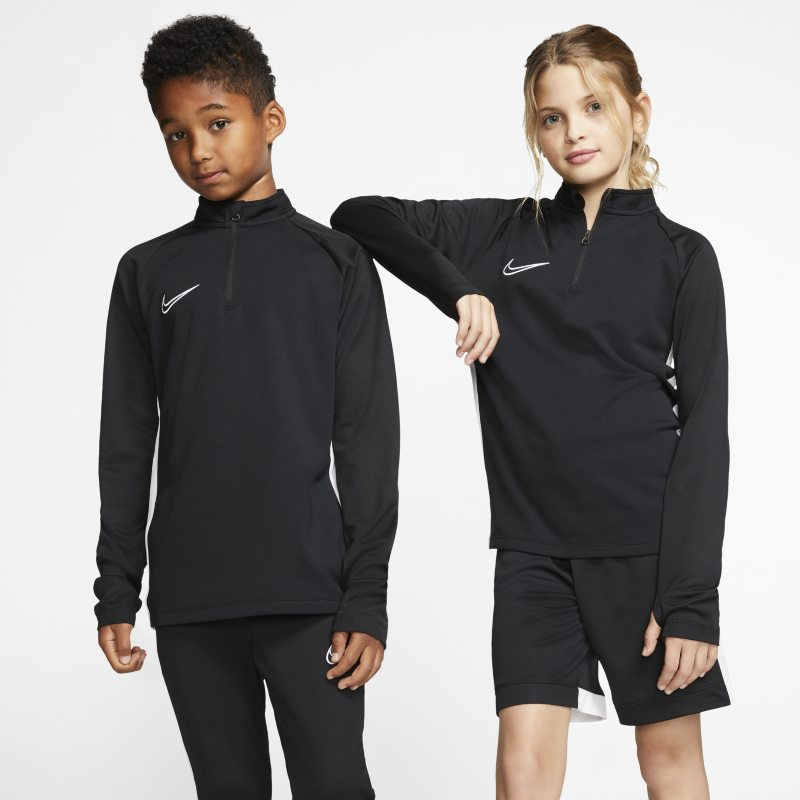 Image of Nike Dri FIT Older Kids' Football Drill Top Black
