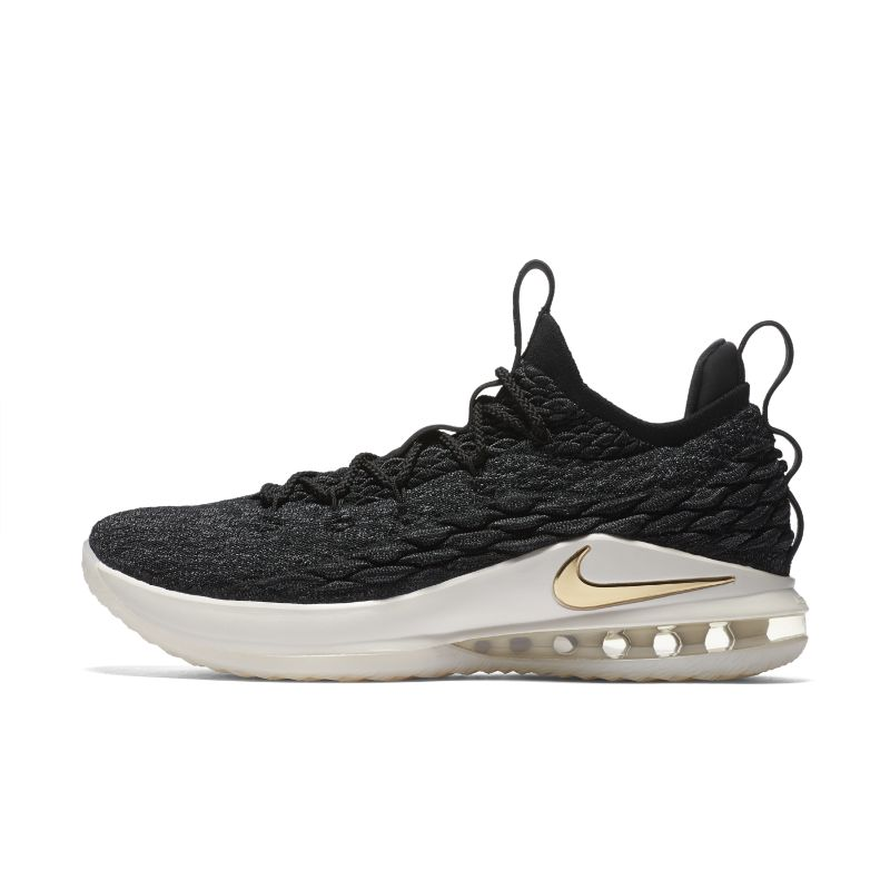 LeBron 15 Low Basketball Shoe - Black