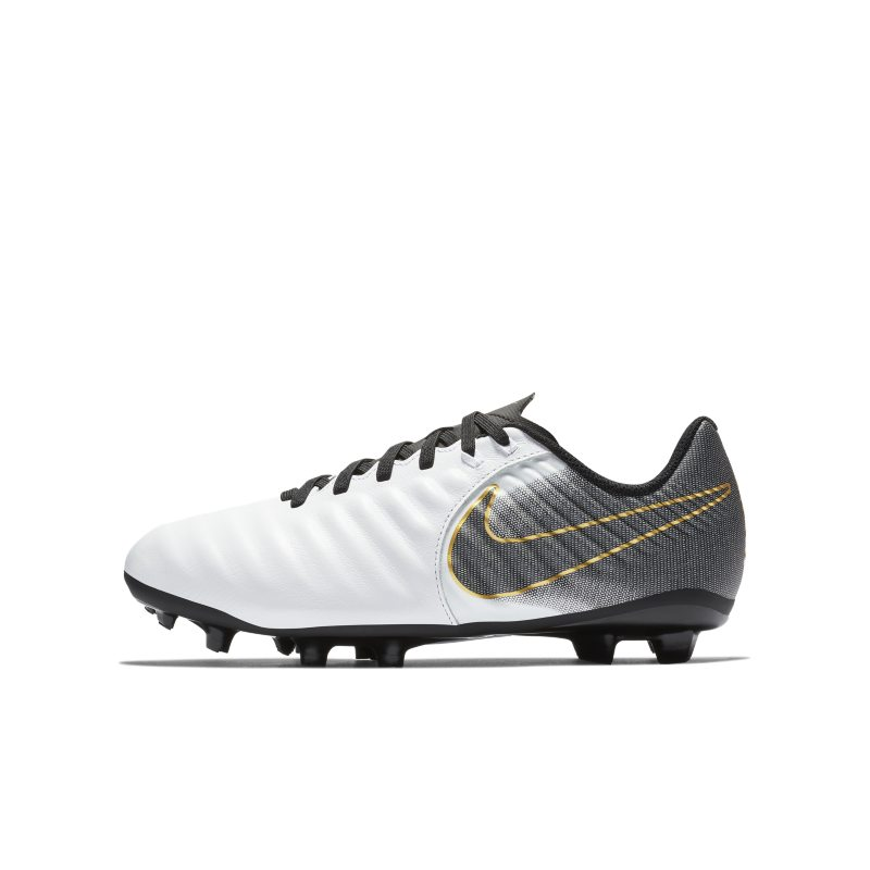 Nike Jr. Tiempo Legend VII Academy Younger/Older Kids' Multi-Ground Football Boot - White