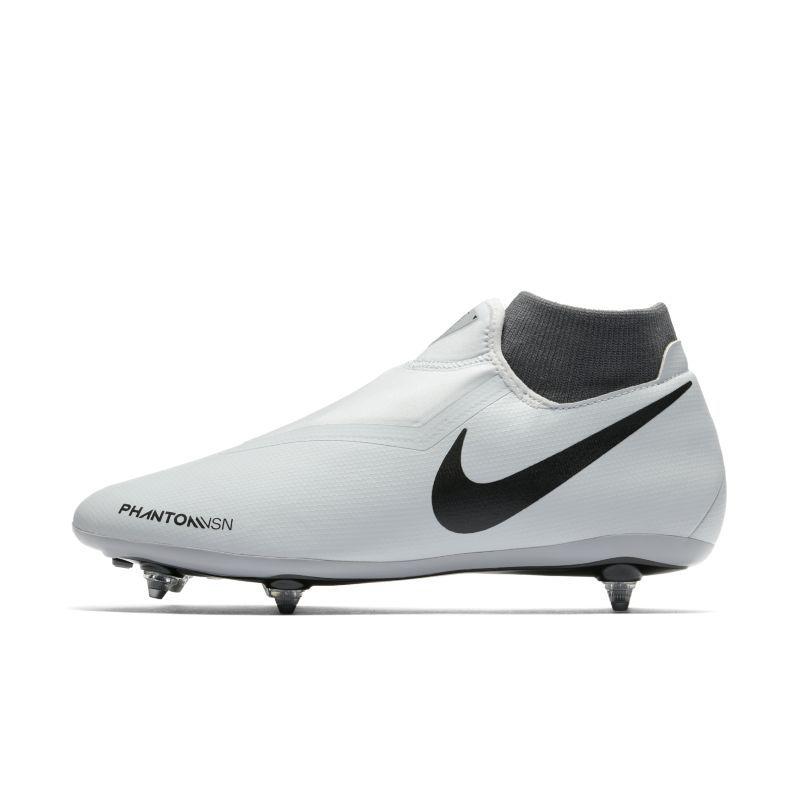 Nike Phantom Vision Academy Dynamic Fit Soft-Ground Football Boot - Silver