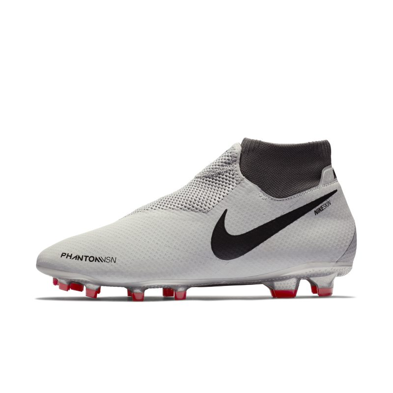 Nike Phantom Vision Pro Dynamic Fit Firm-Ground Football Boot - Silver