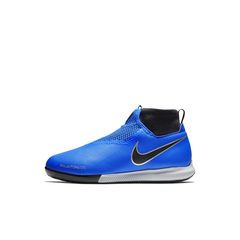 Nike Jr. Phantom Vision Academy Dynamic Fit Younger/Older Kids'Indoor/Court Football Shoe - Blue thumbnail