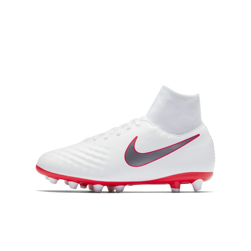 Nike Jr. Obra 2 Academy Dynamic Fit AG-Pro Younger/Older Kids`Artificial-Grass Football Boot - White