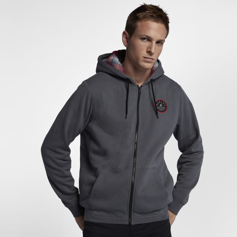 Hurley Beach Club 999 Zip Men's Hoodie - Grey