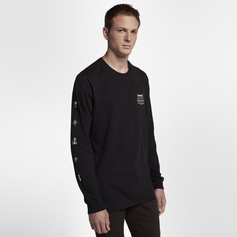 Hurley Pendleton Men's Long-Sleeve T-Shirt - Black
