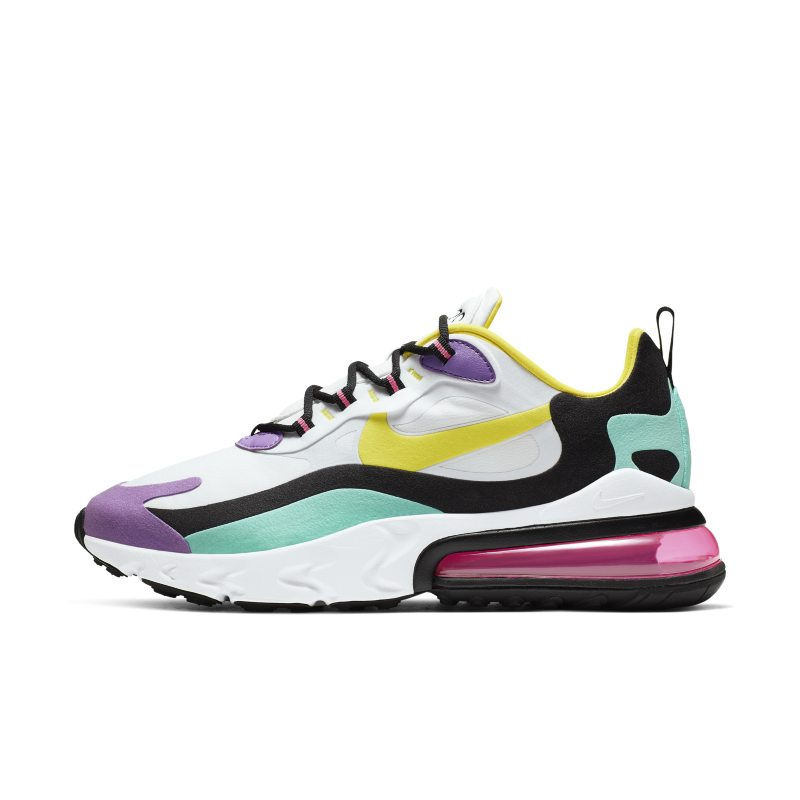 Nike Air Max 270 React (Geometric Abstract) Men's Shoe – White