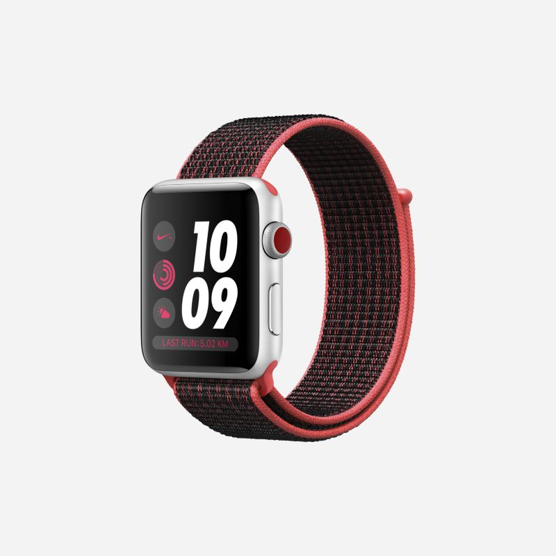 Apple Watch Nike+ Series 3 (GPS + Cellular) 42mm Running Watch - Red