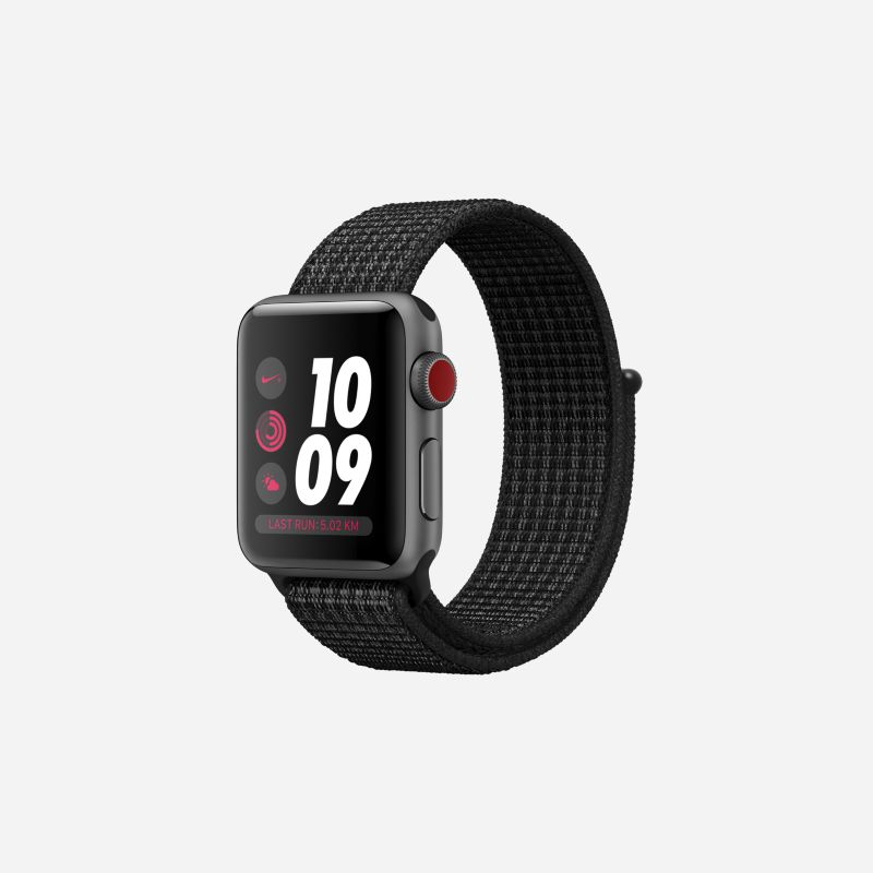 Apple Watch Nike+ Series 3 (GPS + Cellular) 38mm Running Watch - Black