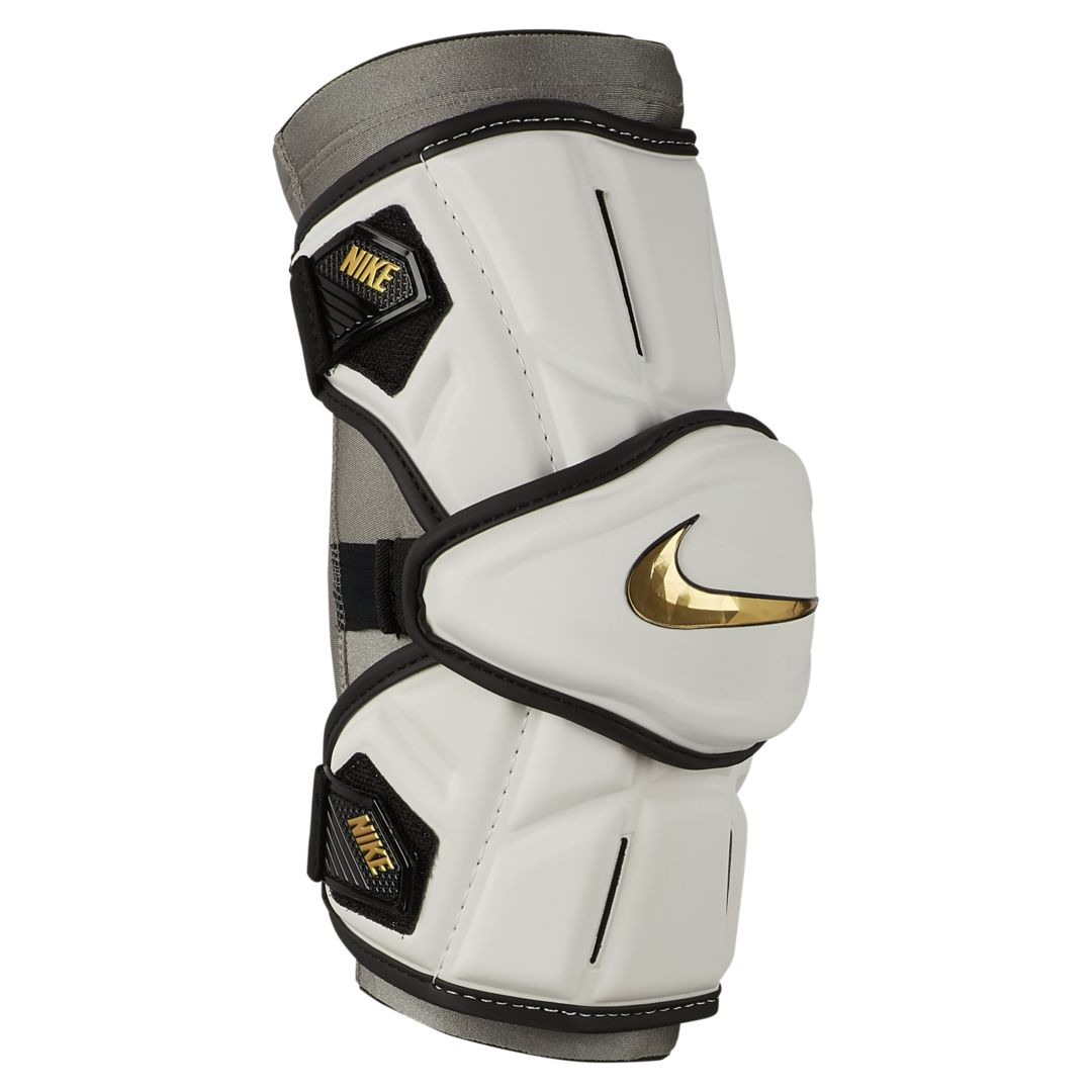 AN ESSENTIAL FOR PRACTICE OR GAME DAY. Made of ultra-lightweight padding, the Nike Vapor Elite Arm Pads feature a segmented design with stretch zones to optimize flexibility during practice or game day. Benefits Made of ultra-lightweight, protective padding. Segmented design with stretch zones optimize flexibility. Dual adjustable straps help secure the fit. Style: APV8;Color: White; Size: L; Gender: Male