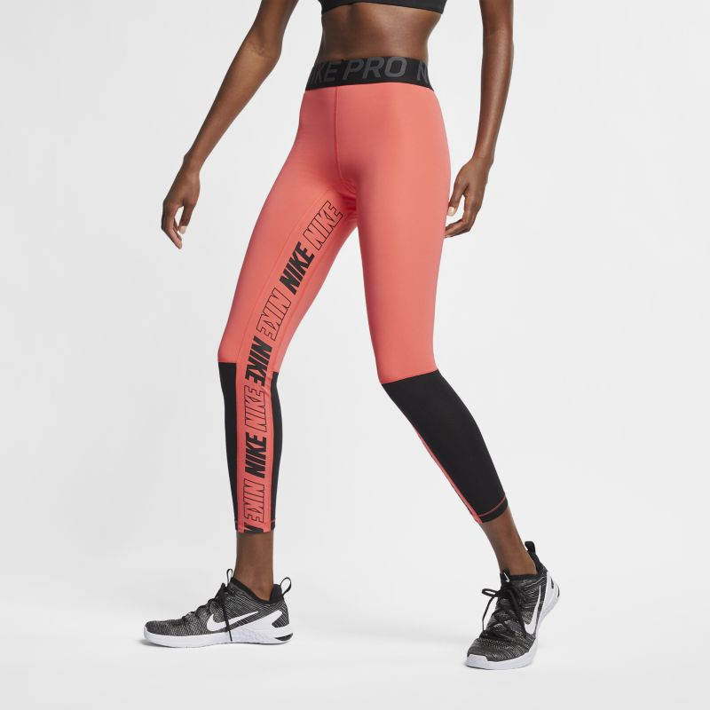 Image of Tights con grafica Nike Pro - Donna - Red