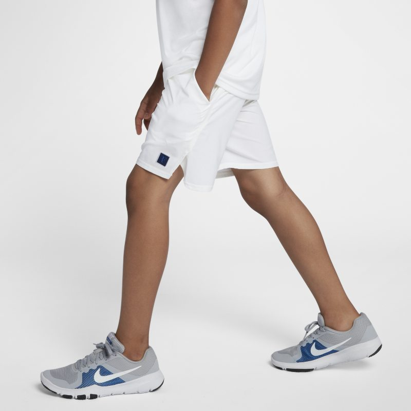 NikeCourt Dri-FIT Flex RF Older Kids'(Boys') Shorts - White thumbnail