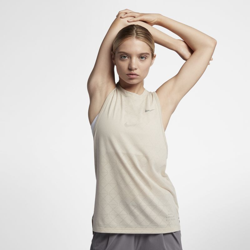 Nike Tailwind Run Division Women's Running Tank - Cream