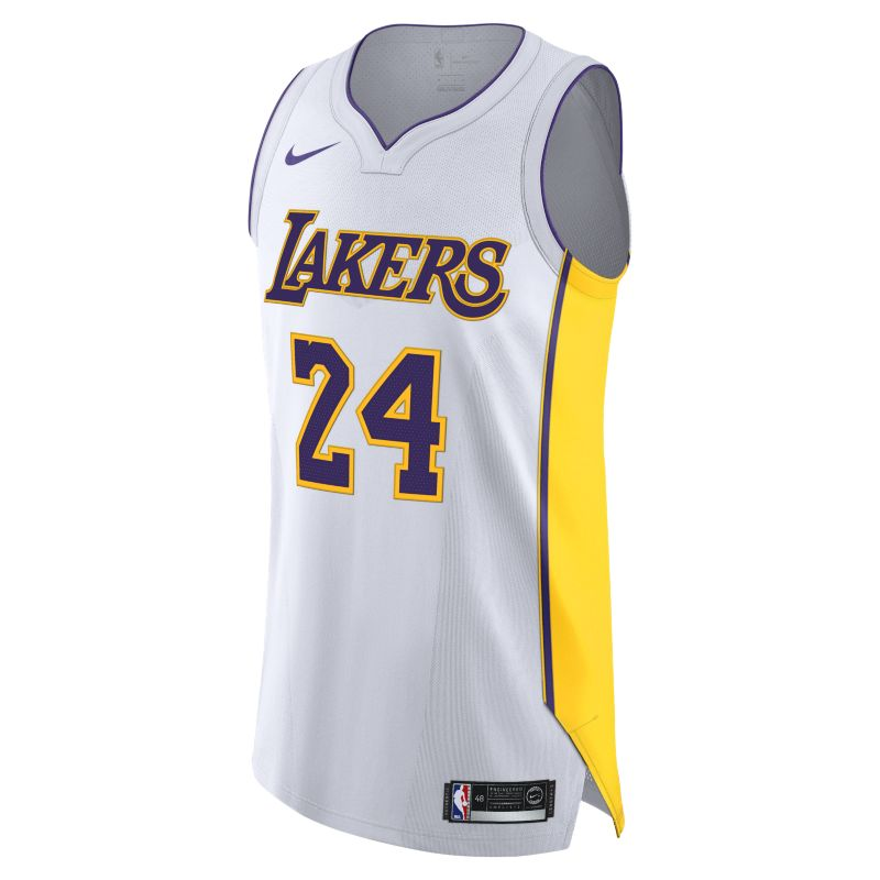 Kobe Bryant Association Edition Authentic (Los Angeles Lakers) Men's Nike NBA Connected Jersey - Whi