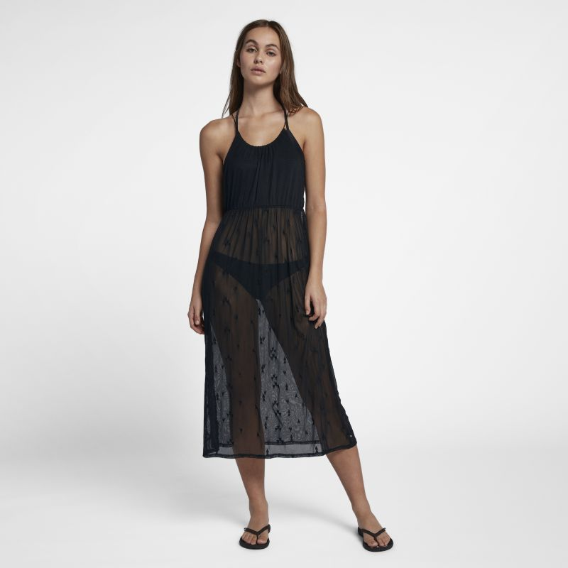 Hurley Embroidered Women's Mesh Dress - Black