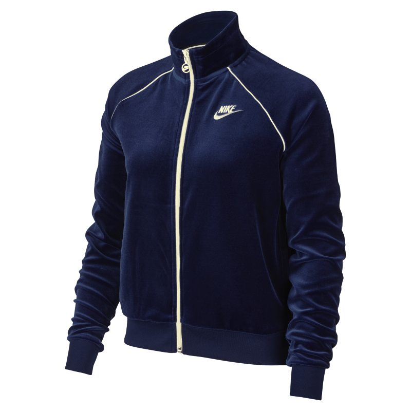 Nike Sportswear Women's Velour Track Jacket - Blue