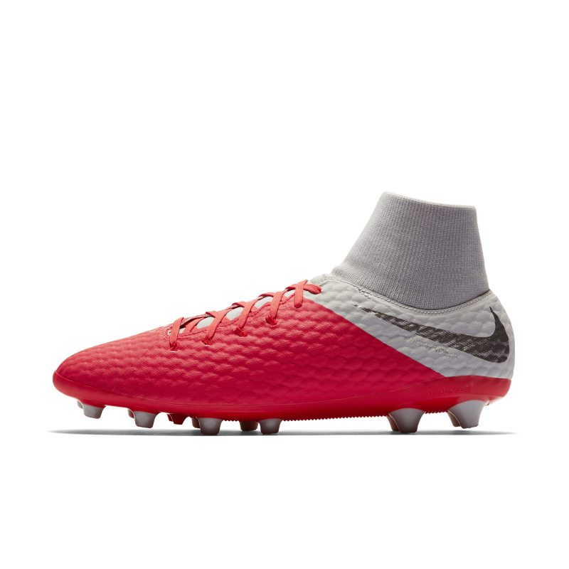 Nike Hypervenom III Academy Dynamic Fit AG-PRO Artificial-Grass Football Boot - Red