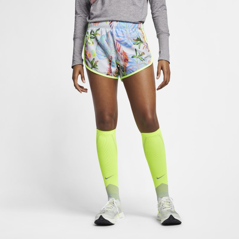 Nike Tempo Women's Printed Running Shorts - Silver