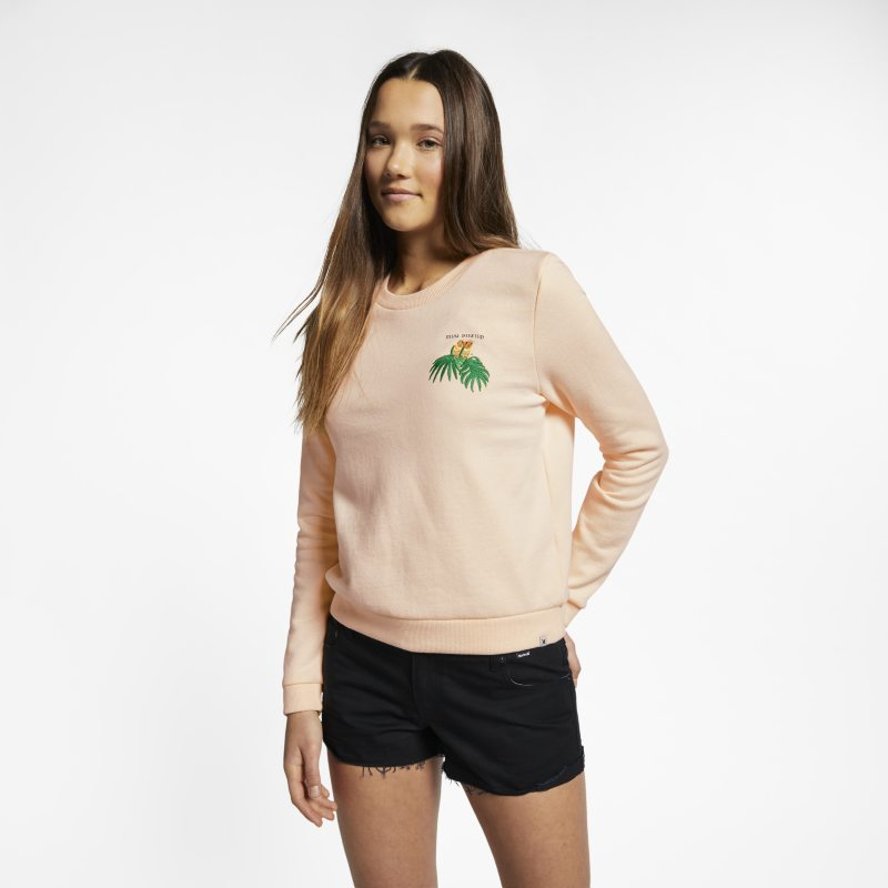 Hurley Muy Bueno Perfect Women's Long-Sleeve Fleece Crew - Cream