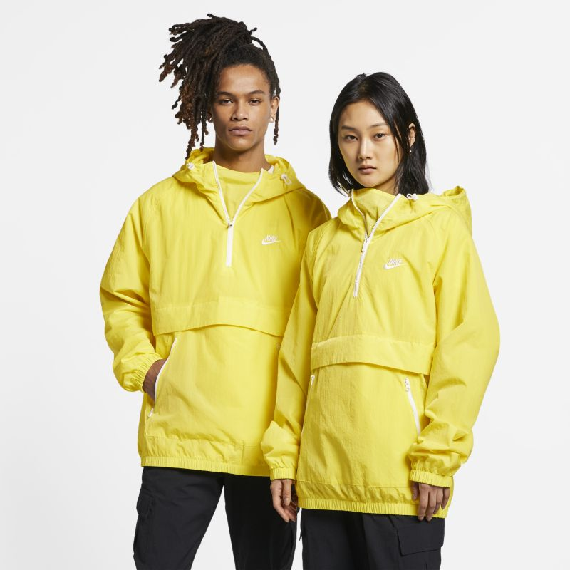 Nike Sportswear Hooded Woven Anorak - Yellow