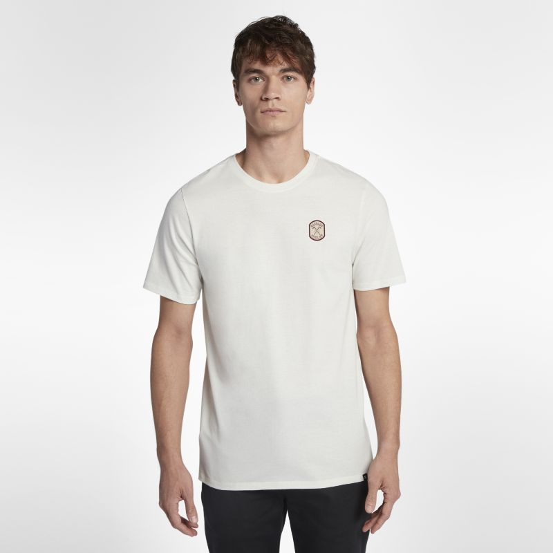 Hurley Machado Patch Men's T-Shirt - Cream