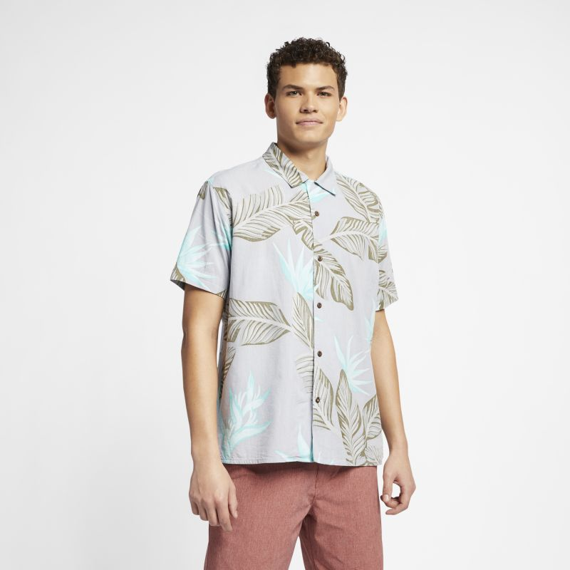 Hurley Hanoi Men's Short-Sleeve Shirt - White