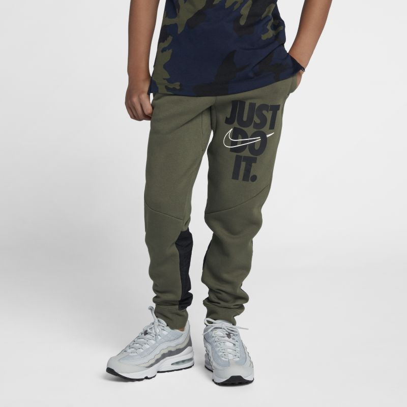 Image of Pantaloni Just Do It Nike Air - Ragazzo - Olive