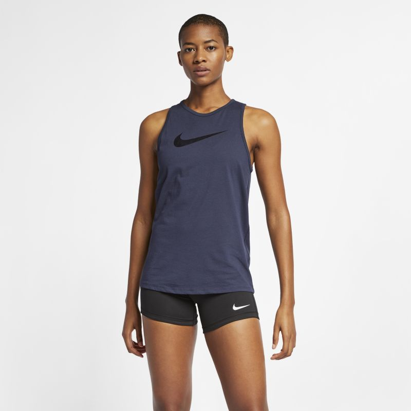 Nike Dri-FIT Women's Metallic Training Tank - Blue