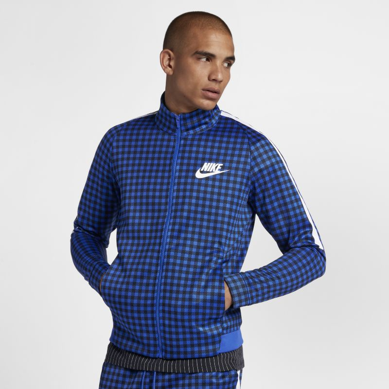 Nike Sportswear Men's Graphic Track Jacket - Blue