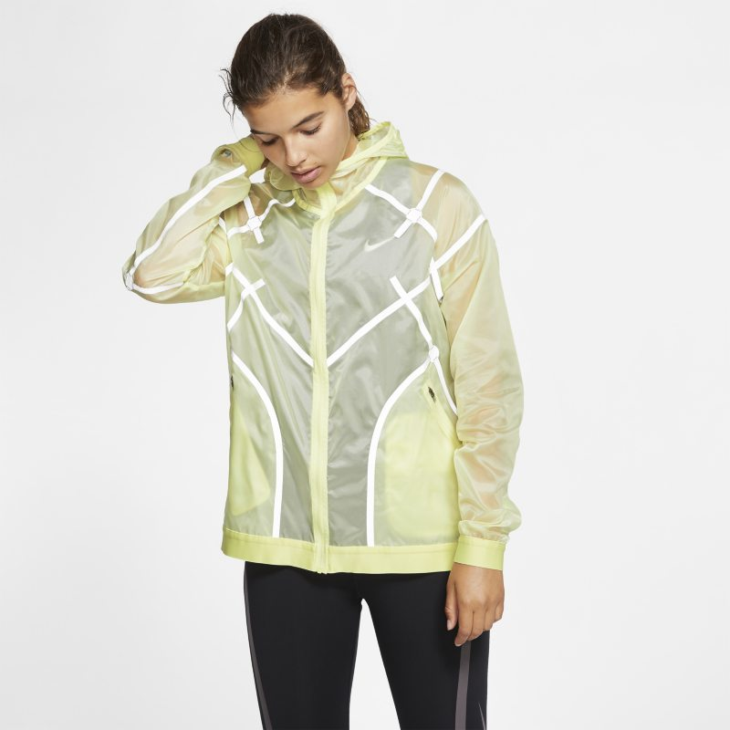 Nike City Ready Women's Hooded Running Jacket - Yellow