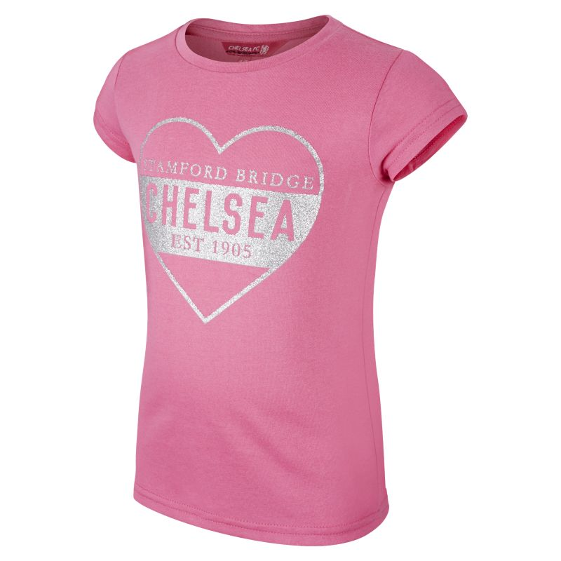 Chelsea FC Glitter Baby&Toddler/Younger Kids'Graphic T-Shirt - Pink
