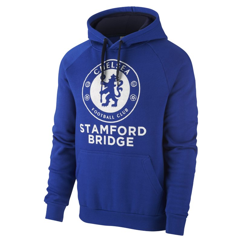 buy popular 480af ffa07 Chelsea FC Perforated Print Pullover-Hoodie für Herren - Blau