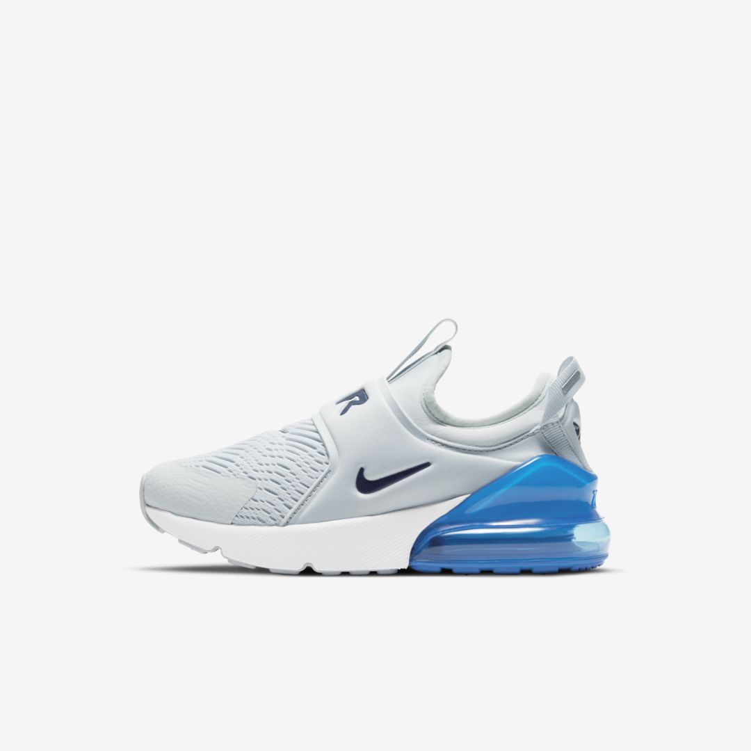 Nike Air Max 270 Extreme Little Kids' Shoe In Platinum/ Blue Void/ Blue