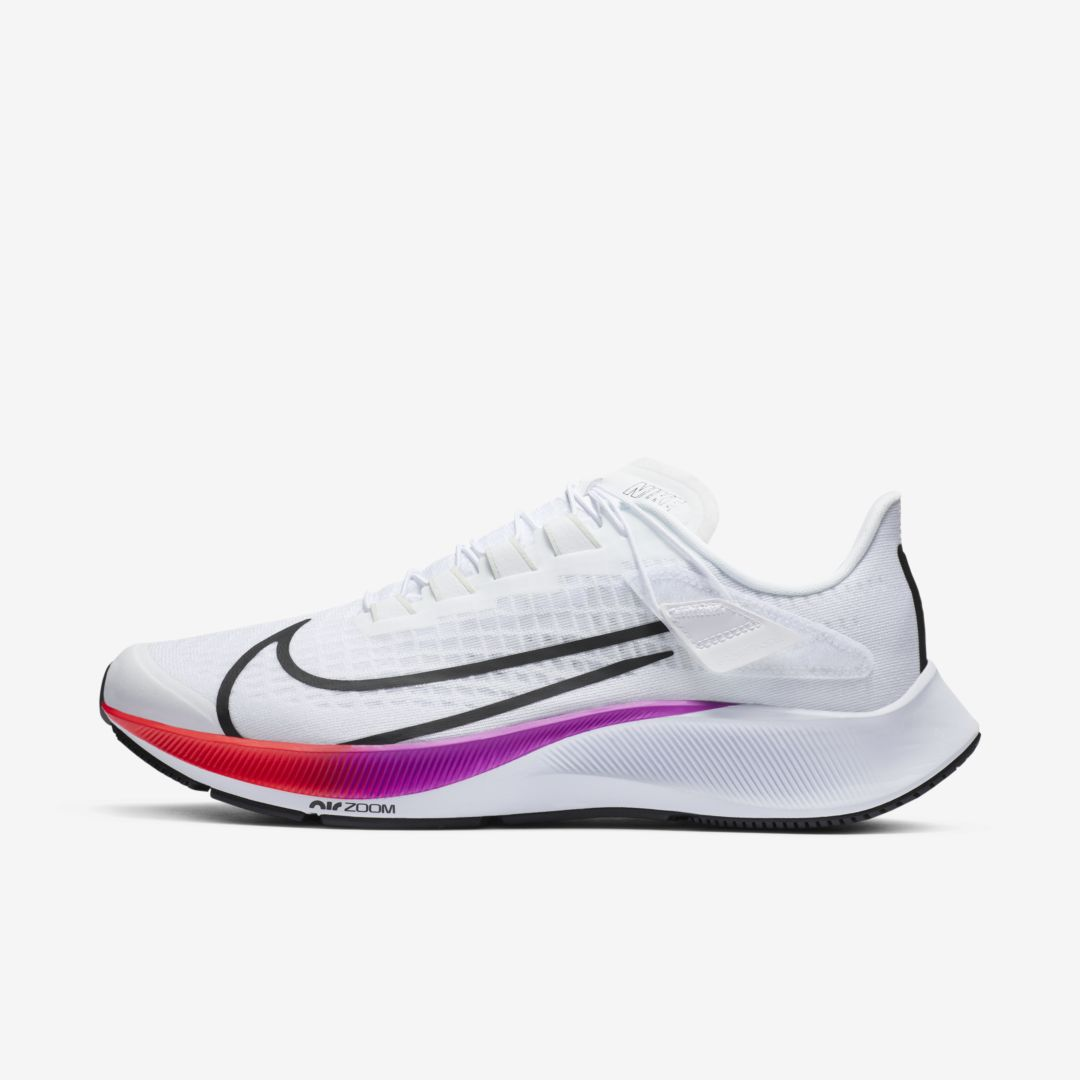 NIKE AIR ZOOM PEGASUS 37 FLYEASE MEN'S RUNNING SHOE (WHITE)