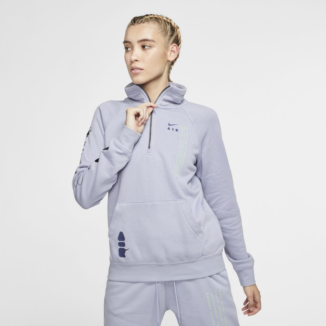 nike fleece 1/4 zip womens