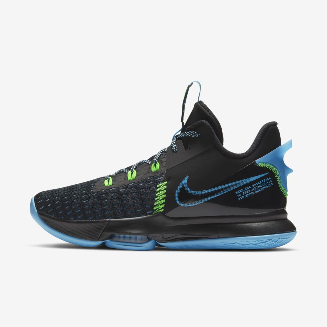 Nike LEBRON WITNESS 5 BASKETBALL SHOE (BLACK)
