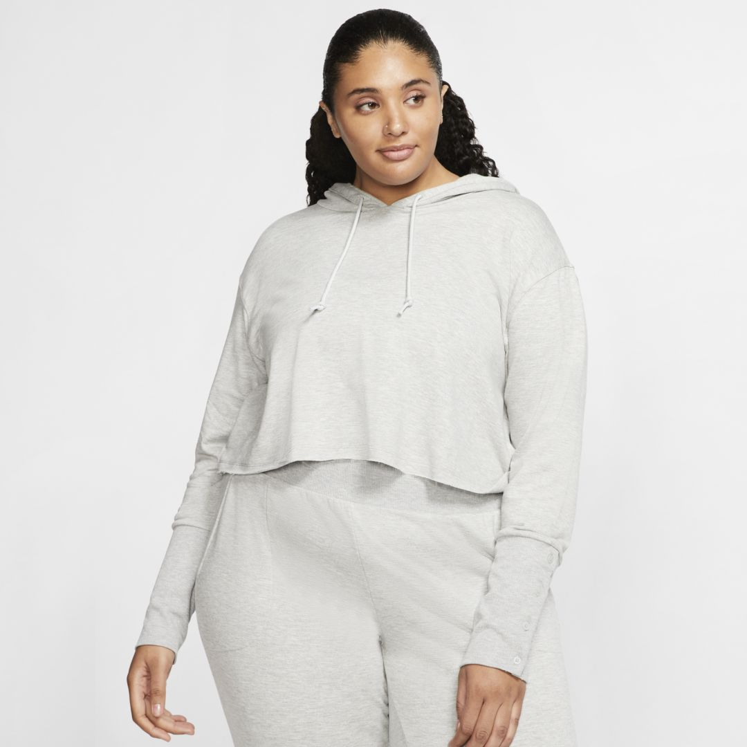 Nike YOGA LUXE WOMEN'S CROPPED HOODIE (PLUS SIZE)