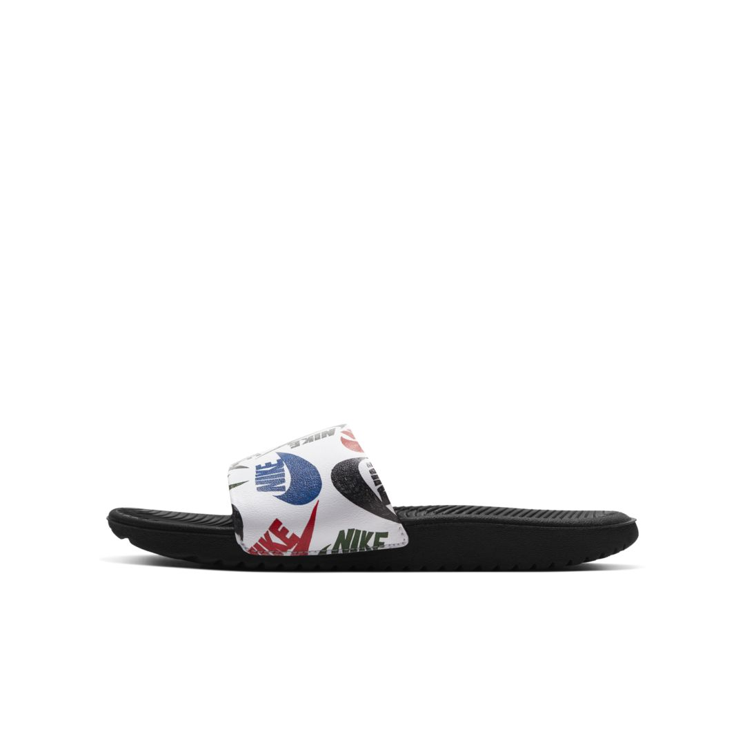 Nike Kawa Se Jdi Little/big Kids' Slide In 010 Black/white