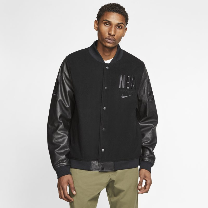 Nike Courtside' Paris' Men's NBA Destroyer Jacket - Black