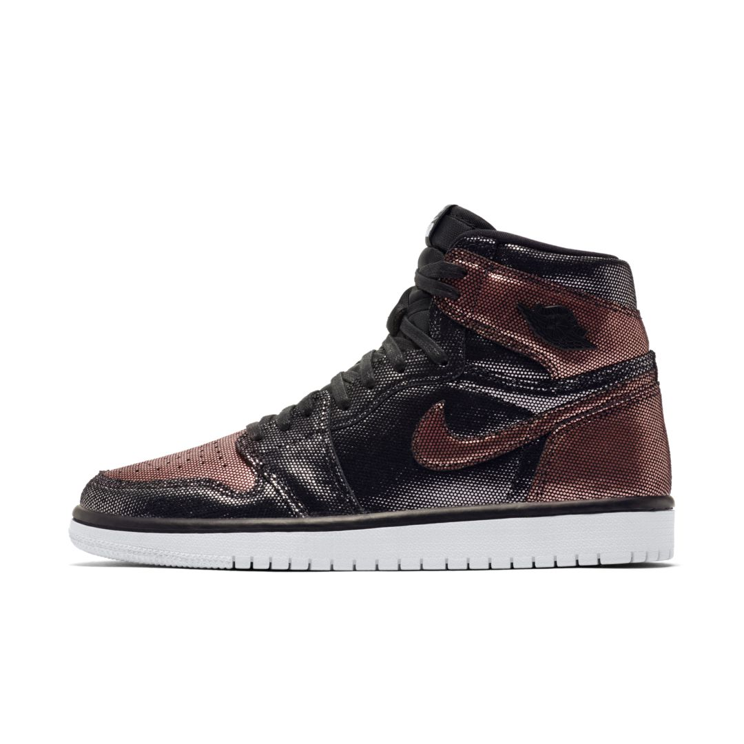 Air Jordan 1 Hi OG Fearless Women's Shoe Size 7 (Black/Metallic Rose Gold) CU6690-006