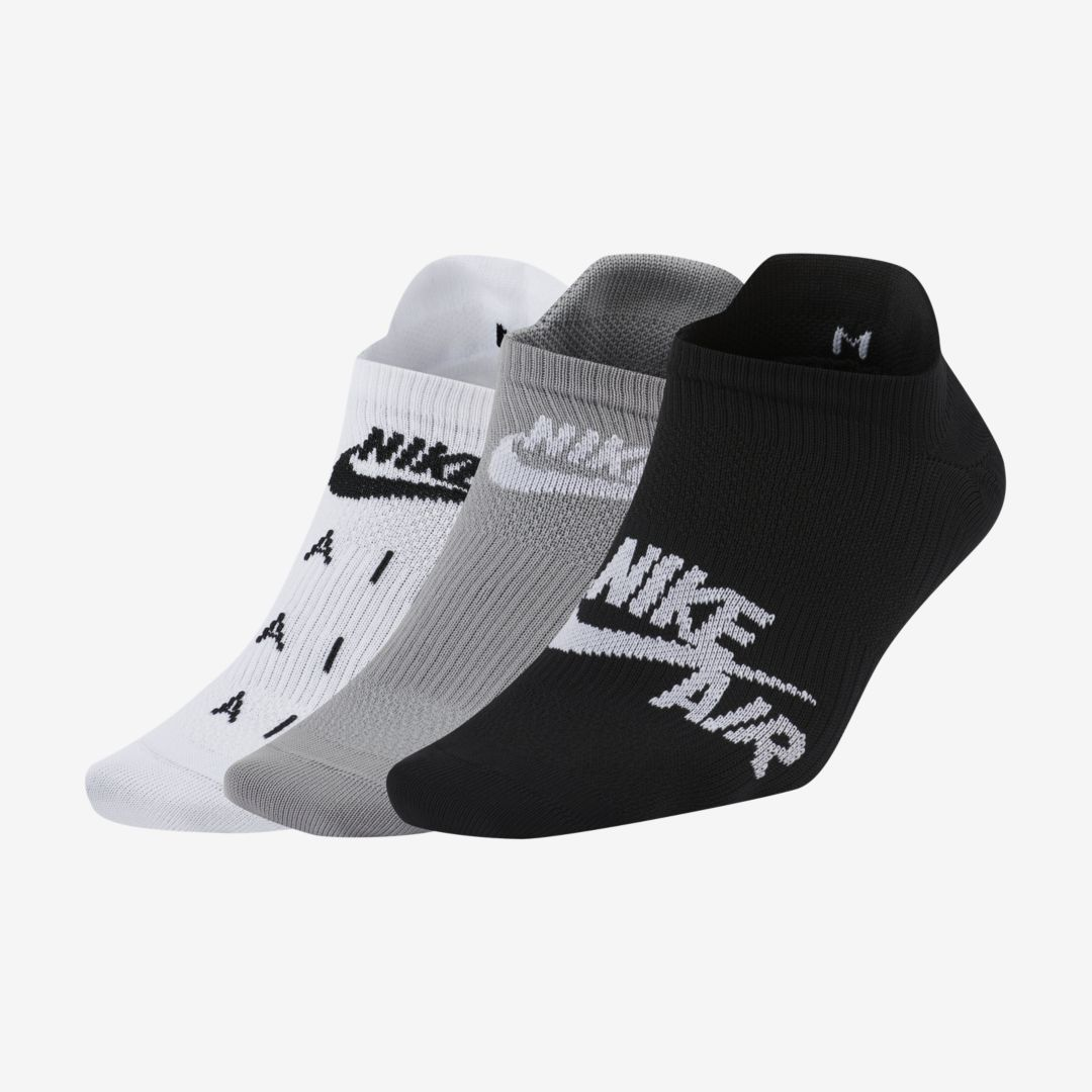 Nike AIR EVERYDAY PLUS WOMEN'S TRAINING NO-SHOW SOCKS (3 PAIRS) (MULTICOLOR)