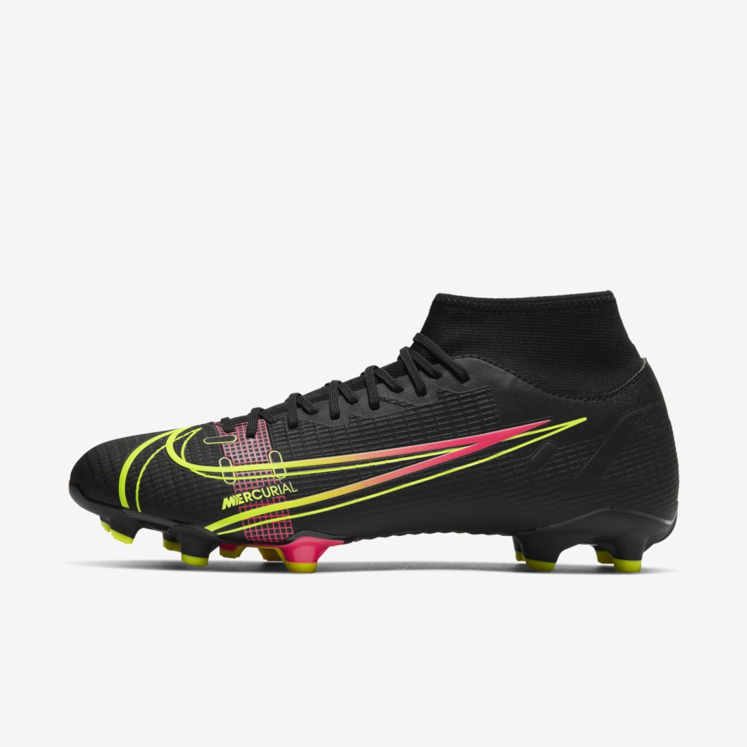 Nike Shoes MERCURIAL SUPERFLY 8 ACADEMY MG MULTI-GROUND SOCCER CLEAT (BLACK)