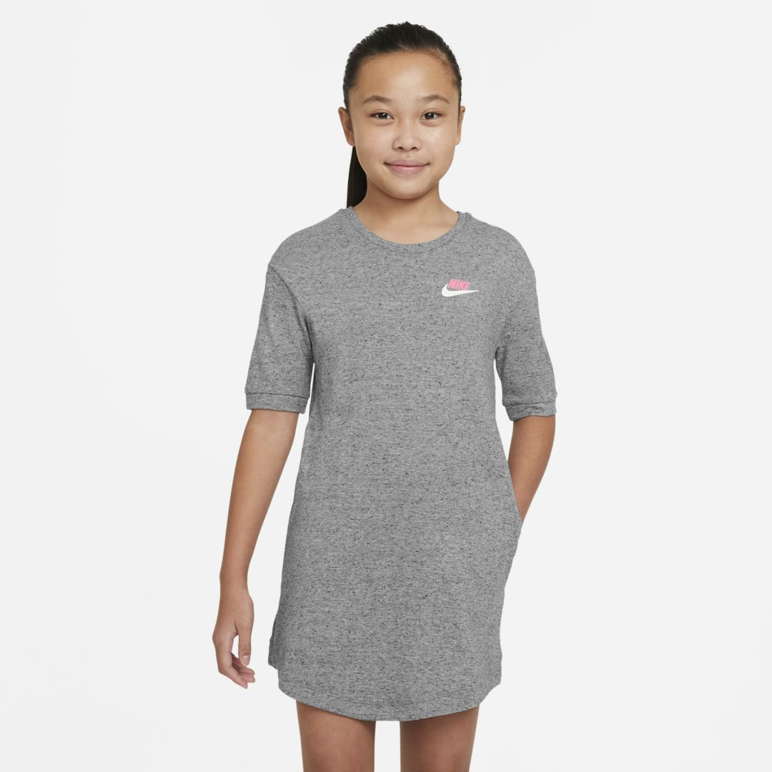 Nike SPORTSWEAR BIG KIDS' (GIRLS') JERSEY DRESS (CARBON HEATHER)