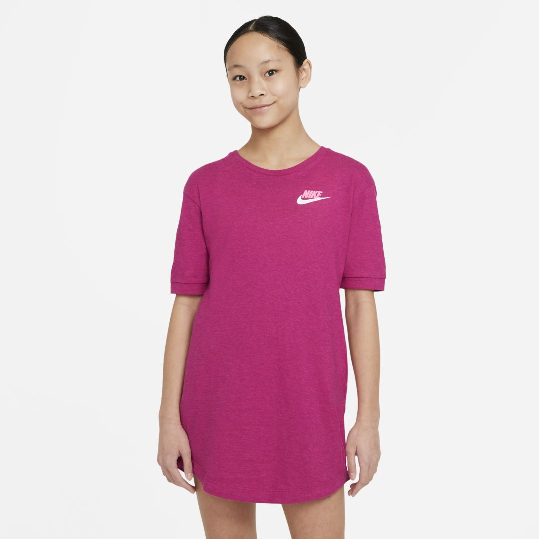 Nike SPORTSWEAR BIG KIDS' (GIRLS') JERSEY DRESS (FIREBERRY)