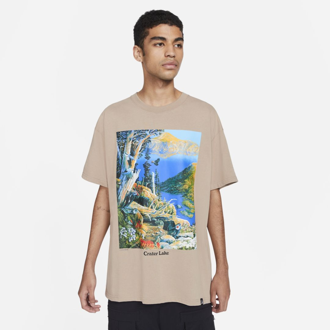 "Nike ACG ""CRATER LAKE"" SHORT-SLEEVE T-SHIRT (KHAKI)"