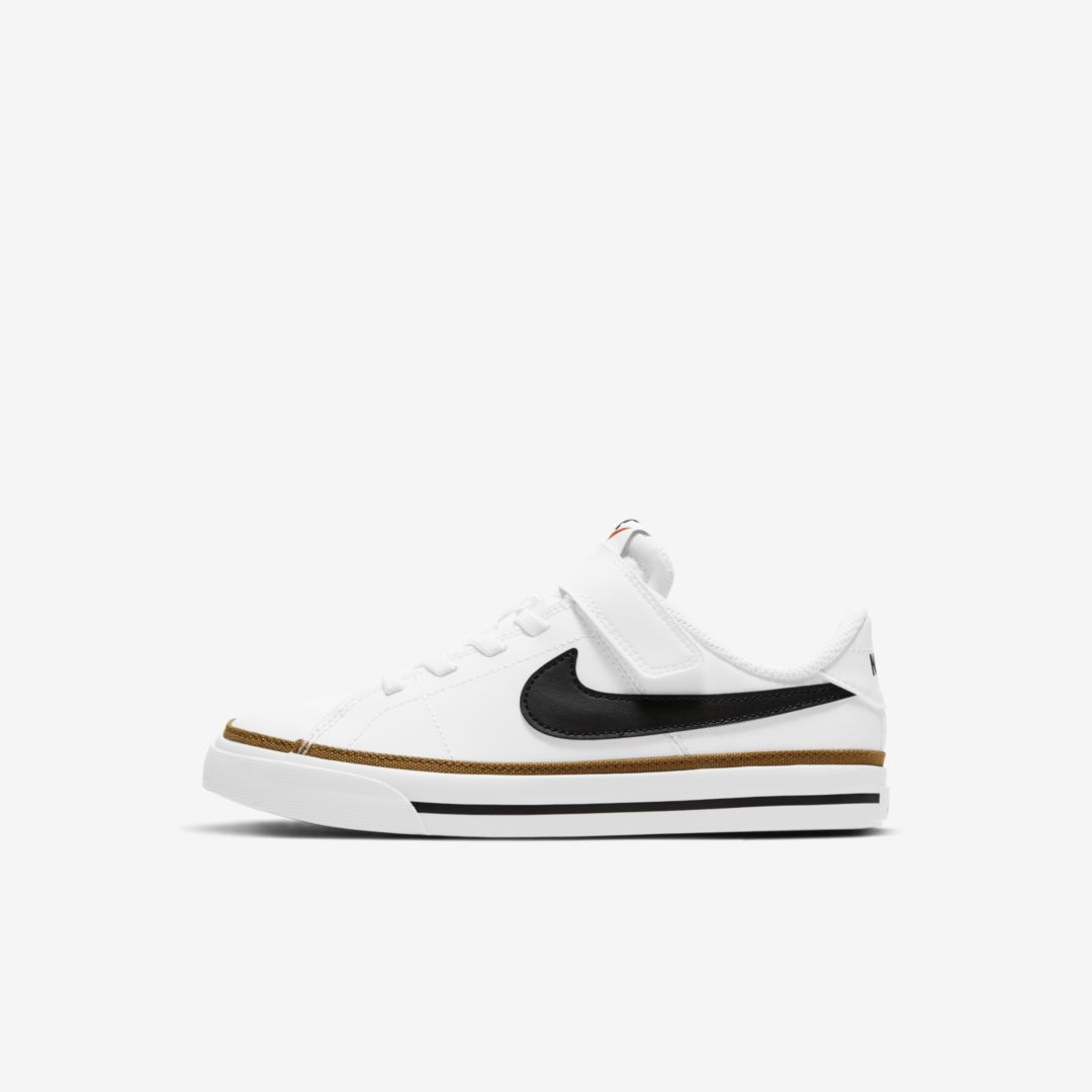 Nike COURT LEGACY LITTLE KIDS' SHOE (WHITE)