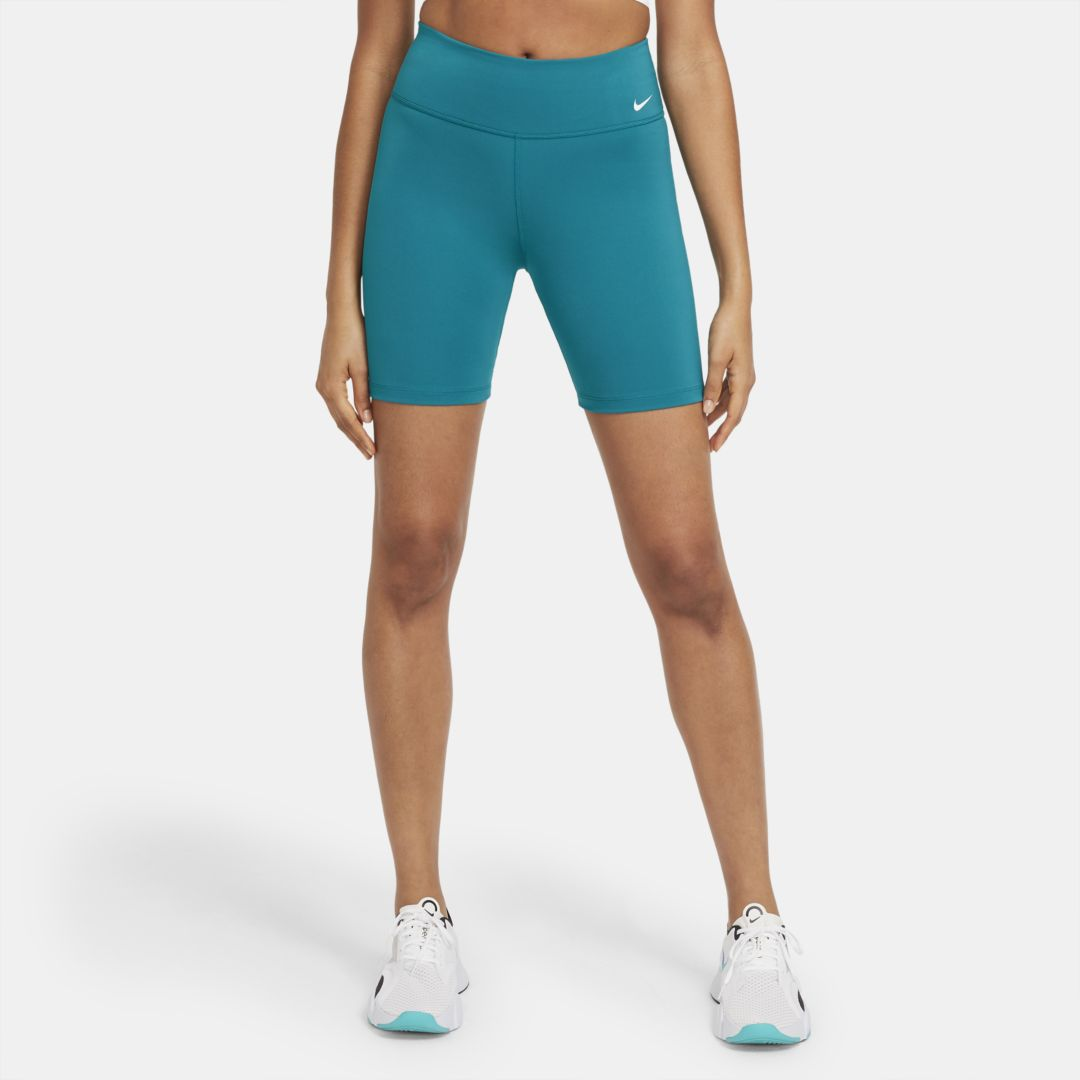 "Nike ONE WOMEN'S MID-RISE 7"" BIKE SHORTS (BLUSTERY)"