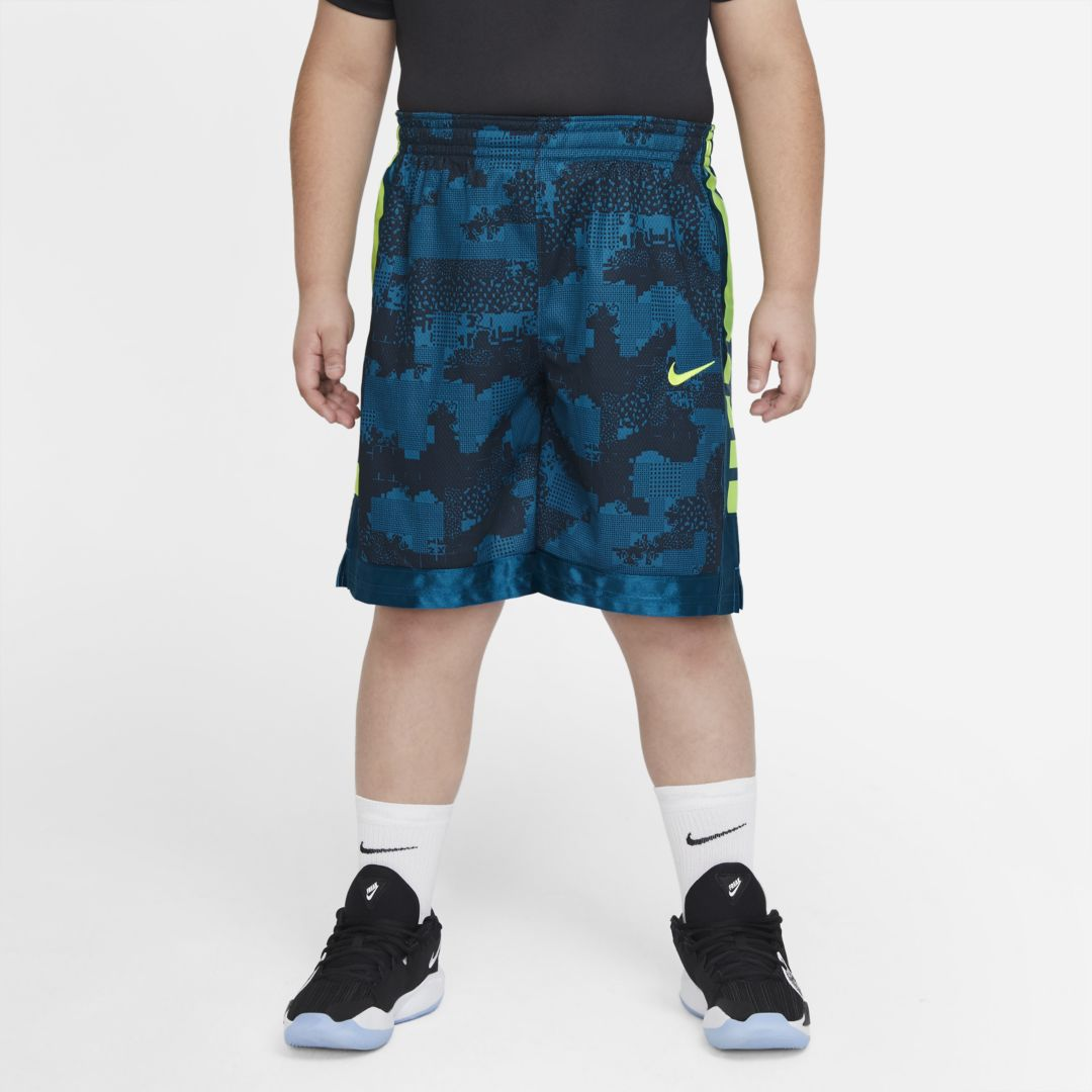 Nike ELITE SUPER BIG KIDS' (BOYS') SHORTS BASKETBALL (EXTENDED SIZE) (GREEN ABYSS)