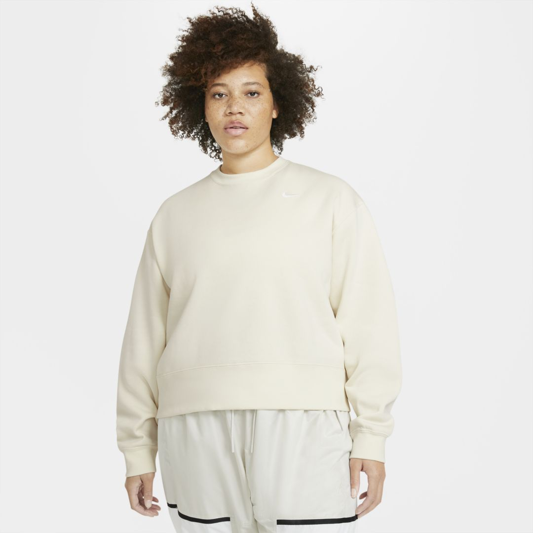 Nike Cottons SPORTSWEAR ESSENTIAL WOMEN'S CREW (PLUS SIZE) (COCONUT MILK)