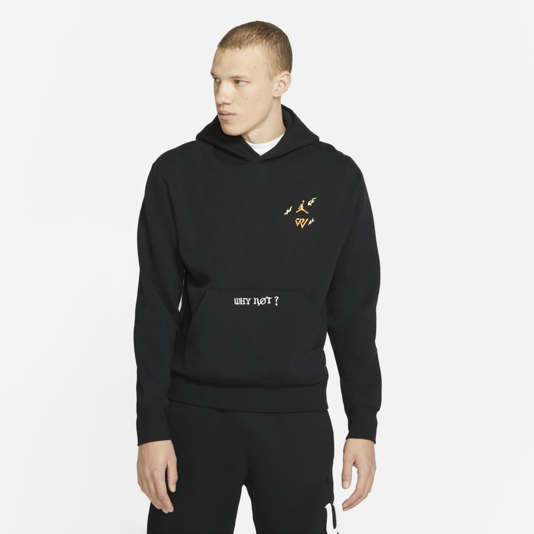 Jordan WHY NOT? MEN'S FLEECE HOODIE (BLACK)