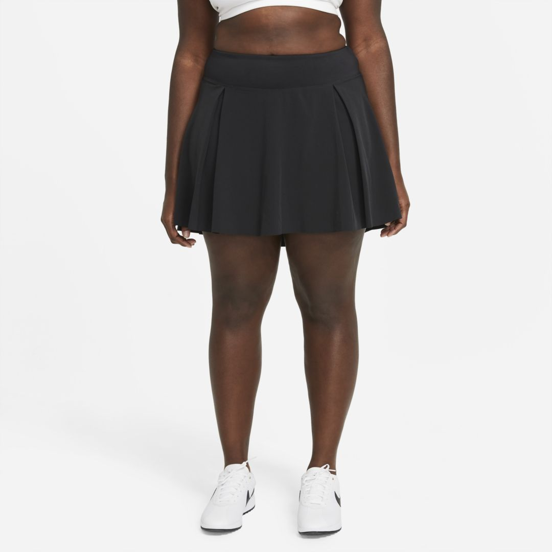 Nike CLUB SKIRT WOMEN'S REGULAR GOLF SKIRT (PLUS SIZE) (BLACK)
